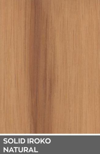 SOLID IROKO NATURAL